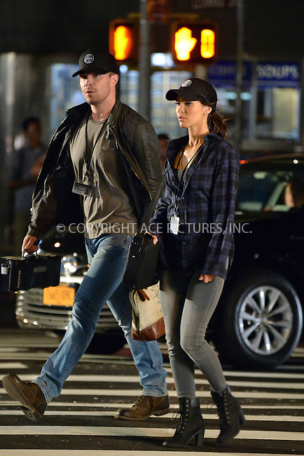 WWW.ACEPIXS.COM<br /> <br /> May 28 2015, New York City<br /> <br /> Actors Stephen Amell and Megan Fox on the set of the new Ninja Turtles movie on May 28 2015 in New York City<br /> <br /> By Line: Curtis Means/ACE Pictures<br /> <br /> <br /> ACE Pictures, Inc.<br /> tel: 646 769 0430<br /> Email: info@acepixs.com<br /> www.acepixs.com