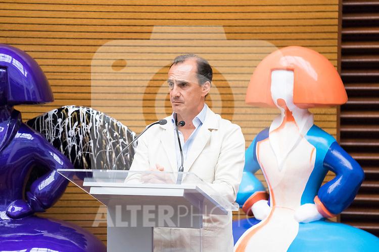 President of Acotex, Eduardo Zamacola, during the presentation of 'Meninas Madrid Gallery' at Madrid town hall. October 01, 2019. (ALTERPHOTOS/Francis Gonzalez)