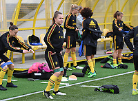 20191107 - Zapresic , BELGIUM : Belgian Davinia Vanmechelen pictured during a Matchday -1 training session before a  female soccer game between the womensoccer teams of  Croatia and the Belgian Red Flames , the third women football game for Belgium in the qualification for the European Championship round in group H for England 2021, Thursday 7 th october 2019 at the NK Inter Zapresic stadium near Zagreb , Croatia .  PHOTO SPORTPIX.BE | DAVID CATRY