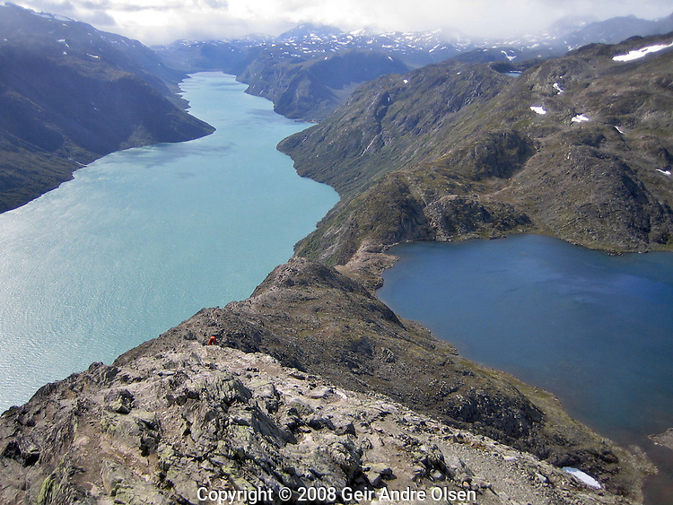 Hikeingtrip at Besseggen, famous Norwegian sceenery