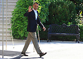 United States President Barack Obama departs the White House in Washington, D.C. to travel to Moore, Oklahoma on May 26, 2013  <br /> Credit: Dennis Brack / Pool via CNP
