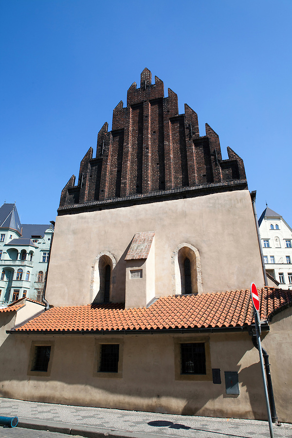 Europe's oldest active synagogue, The Old New Synagogue (Czech: Staronová synagoga) situated in Josefov, the Jewish Quarter of Prague, Czech Republic