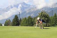 Richard Bland (ENG) on the 13th on the 1st day of the Omega European Masters, Crans-Sur-Sierre, Crans Montana, Switzerland..Picture: Golffile/Fran Caffrey..