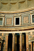 Rome, Italy - April 4, 2006 -- Part of the interior of the Pantheon in Rome, Italy on Tuesday, April 4, 2006.  The Pantheon is the best preserved of all of Rome's ancient building.  It is believed to have been built in the first century AD by the Emperor Hadrian..Credit: Ron Sachs / CNP
