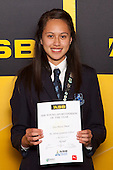 Netball winner Tera-Maria Amani from Mt Albert Grammar School. ASB College Sport Young Sportsperson of the Year Awards held at Eden Park, Auckland, on November 24th 2011.