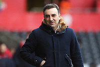 Swansea City manager Carlos Carvalhal arrives at Liberty Stadium prior to kick off of the Fly Emirates FA Cup Quarter Final match between Swansea City and Tottenham Hotspur at the Liberty Stadium, Swansea, Wales, UK. Saturday 17 March 2018