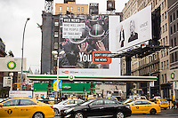 Advertising for Vice Media is seen in the Soho neighborhood of New York on Saturday, October 11, 2014. The online news outlet has decided not to seek a buyer and will remain independent. Vice recently raised $500 million which will be pumped into production and an expansion into mobile devices. (© Richard B. Levine)