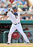 9 March 2011: Detroit Tigers' infielder Argenis Diaz in action during a Spring Training game against the Philadelphia Phillies at Joker Marchant Stadium in Lakeland, Florida. The Phillies defeated the Tigers 5-3 in Grapefruit League play. Mandatory Credit: Ed Wolfstein Photo