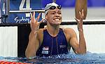 OS 2000 Sydney. Inge de Bruijn won goud op de 100meter vlinderslag.