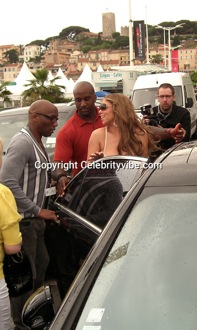 Mariah Carey..Mariah Carey and Lenny Kravitz promoting their Movie Precious leaving an Interview with Canal I..2009 Cannes Film Festival..Cannes, France..Friday, May 15, 2009..Photo By Celebrityvibe.com.To license this image please call (212) 410 5354; or Email: celebrityvibe@gmail.com ; .website: www.celebrityvibe.com.