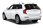 Car pictures of rear three quarter view of 2017 Volvo XC90 Momentum 5 Door SUV Angular Rear
