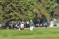 Justin Thomas (USA) high fives his caddie, Jimmy Johnson after sinking his approach shot on 18 during round 4 of the World Golf Championships, Mexico, Club De Golf Chapultepec, Mexico City, Mexico. 3/4/2018.<br /> Picture: Golffile | Ken Murray<br /> <br /> <br /> All photo usage must carry mandatory copyright credit (&copy; Golffile | Ken Murray)