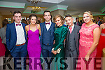Pictured at their Debs Ball in The Ring of Kerry Hotel on Saturday were l-r; Conor O'Leary, Nicola O'Sullivan, Cian O'Leary, Lauren O'Sullivan, Ciarán Farrell & Julie O'Connell.