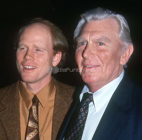 Ron Howard Andy Griffith 1992<br /> Photo By John Barrett/PHOTOlink/MediaPunch