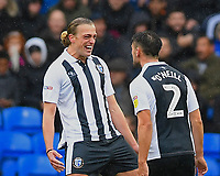 Tom Eaves of Gillingham left celebrates his goal with Luke O'Neill of Gillingham during Portsmouth vs Gillingham, Sky Bet EFL League 1 Football at Fratton Park on 6th October 2018