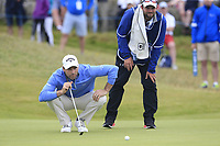 Oliver Wilson (ENG) on the 16th green during Saturday's Round 3 of the Dubai Duty Free Irish Open 2019, held at Lahinch Golf Club, Lahinch, Ireland. 6th July 2019.<br /> Picture: Eoin Clarke | Golffile<br /> <br /> <br /> All photos usage must carry mandatory copyright credit (© Golffile | Eoin Clarke)