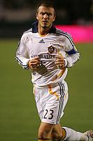 LA Galaxy midfielder David Beckham (23). CD Chivas USA defeated the LA Galaxy 3-0 in the Super Classico MLS match at the Home Depot Center in Carson, California, Thursday, August 23, 2007.