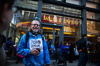 NEW YORK, NY - APRIL 5: Activists begin the overnight camp out in front of Wells Fargo branch on April 5, 2017 in Soho, New York City. Activists are looking to drive mayor Bill De Blasio attention to divest founds from banks like Wells Fargo &amp; Company which has caused controversy for their investment in the Dakota Access Pipeline (DAPL)&mdash;a project that will be constructed through land owned by the Standing Rock Indian Reservation and covers land stretching from North Dakota to central Illinois. Photo by VIEWpress/Eduardo MunozAlvarez<br /> <br /> divest