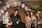 "Guiding Light's Frank Dicopoulos along with Elliot Griffin  (Miss Pennsylvania Teen USA 2008) and Micah Michael (Miss West Virginia Teen USA 2008) are on stage with Diane Krutz who designed the PINKie Promise Ring at the Young Women's Breast Cancer Foundation event - Reach to Recovery - ""Spring into Shape!"" Luncheon and Fashion Show on April 6, 2008 at Embassy Suites, Coraopolis, Pennsylvania. The event also included a Chinese Auction and an autograph session with the Guiding Light actors. (Photo by Sue Coflin/Max Photos)"