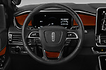 Car pictures of steering wheel view of a 2019 Lincoln Navigator L Reserve 5 Door Wagon