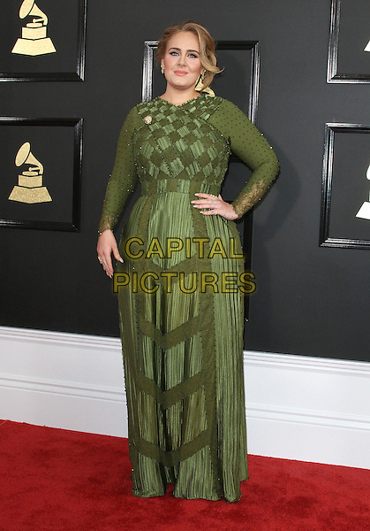 12 February 2017 - Los Angeles, California - Adele. 59th Annual GRAMMY Awards held at the Staples Center. <br /> CAP/ADM<br /> &copy;ADM/Capital Pictures