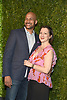 Keegan- Michael Key and fiancee Elise Pugliese attends the Chanel Tribeca Film Festival Artists Dinner on April 23, 2018 at Balthazar Restaurant in New York, New York, USA.<br /> <br /> photo by Robin Platzer/Twin Images<br />  <br /> phone number 212-935-0770