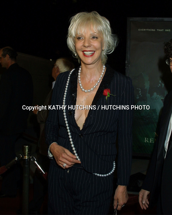 "©2003 KATHY HUTCHINS / HUTCHINS PHOTO.""MATRIX REVOLUTIONS"" PREMIERE .THE WALT DISNEY CONCERT HALL.LOS ANGELES, CA.OCTOBER 27, 2003..PATRIC REEVES (KEANU'S MOTHER....)"