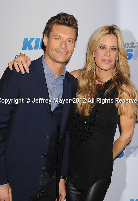 LOS ANGELES, CA - DECEMBER 01: Ryan Seacrest and Ellen K attend KIIS FM's 2012 Jingle Ball at Nokia Theatre L.A. Live on December 1, 2012 in Los Angeles, California.