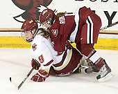 Taylor Wasylk (BC - 9), Kelsey Romatoski (Harvard - 5) - The Boston College Eagles defeated the visiting Harvard University Crimson 6-2 on Sunday, December 5, 2010, at Conte Forum in Chestnut Hill, Massachusetts.