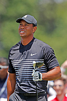 Tiger Woods (USA) tees off on the 8th hole during the second round of the 118th U.S. Open Championship at Shinnecock Hills Golf Club in Southampton, NY, USA. 15th June 2018.<br /> Picture: Golffile | Brian Spurlock<br /> <br /> <br /> All photo usage must carry mandatory copyright credit (&copy; Golffile | Brian Spurlock)