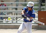 Wildcats' Melanie Mecham hits against College of Southern Nevada at Edmonds Sports Complex Carson City, Nev., on Saturday, May 2, 2015.<br /> Photo by Cathleen Allison