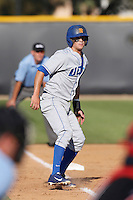 Woody Woodward #5 of the UC Santa Barbara Gauchos during a game against the Cal State Northridge Matadors at Matador Field on May 10, 2013 in Northridge, California. UC Santa Barbara defeated Cal State Northridge, 6-1. (Larry Goren/Four Seam Images)