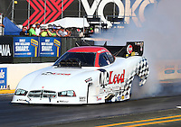 Jul. 25, 2014; Sonoma, CA, USA; NHRA funny car driver Paul Lee during qualifying for the Sonoma Nationals at Sonoma Raceway. Mandatory Credit: Mark J. Rebilas-