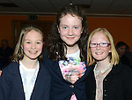 April Judge, Roisin Crowe and Eimear Clarke at the Newtown Blues juvenile awards presentations held in the Barbican Centre. Photo:Colin Bell/pressphotos.ie