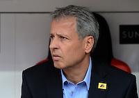 FUSSBALL   1. BUNDESLIGA  SAISON 2012/2013   4. Spieltag Bayer 04 Leverkusen - Borussia Moenchengladbach      23.09.2012 Trainer Lucien Favre (Borussia Moenchengladbach)