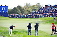 Dustin Johnson (Team USA) during the sunday singles at the Ryder Cup, Le Golf National, Paris, France. 30/09/2018.<br /> Picture Phil Inglis / Golffile.ie<br /> <br /> All photo usage must carry mandatory copyright credit (&copy; Golffile | Phil Inglis)