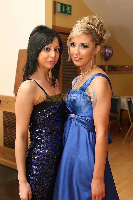 Vicky Hoey with her friend Lydia Luciano at her 21st in the Thatch...Photo NEWSFILE/Jenny Matthews.(Photo credit should read Jenny Matthews/NEWSFILE)....This Picture has been sent you under the condtions enclosed by:.Newsfile Ltd..The Studio,.Millmount Abbey,.Drogheda,.Co Meath..Ireland..Tel: +353(0)41-9871240.Fax: +353(0)41-9871260.GSM: +353(0)86-2500958.email: pictures@newsfile.ie.www.newsfile.ie.FTP: 193.120.102.198.