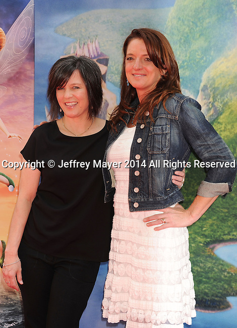 BURBANK, CA- MARCH 22: Director Peggy Holmes (L) and producer Jenni Magee-Cook attend the premiere of DisneyToon Studios' 'The Pirate Fairy' at Walt Disney Studios on March 22, 2014 in Burbank, California.