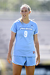 09 September 2012: San Diego's Caitlin Williams. The University of North Carolina Tar Heels defeated the University of San Diego Toreros 5-0 at Koskinen Stadium in Durham, North Carolina in a 2012 NCAA Division I Women's Soccer game.