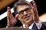 Texas Goveror Rick Perry makes a speech at the 2014 CPAC conference in National Harbor, Maryland March 7, 2014.