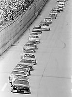 Dale Earnhardt leads enroute to victory at Tallaedga in May 1990. (Photo by Brian Cleary)