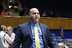 DURHAM, NC - FEBRUARY 01: Georgia Tech assistant Brock Berenato. The Duke University Blue Devils hosted the Georgia Tech University Yellow Jackets on February 1, 2018 at Cameron Indoor Stadium in Durham, NC in a Division I women's college basketball game. Duke won the game 77-59.