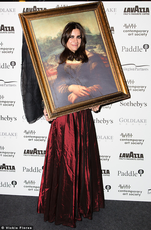 Flavia Nespatti arrives for the Contemporary Art Society Fundraising Gala at Tobacco Dock in Wapping, East London on March 11, 2014.