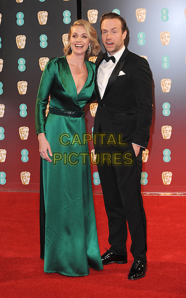 LONDON, ENGLAND - FEBRUARY 12: Elize du Toit and Rafe Spall attends the 70th EE British Academy Film Awards (BAFTA) at Royal Albert Hall on February 12, 2017 in London, England.<br /> CAP/BEL<br /> &copy;BEL/Capital Pictures