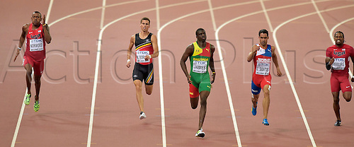 24.08.2015. Beijing, China. 15th International Association of Athletics Federations (IAAF) Athletics World Championships in Beijing, China.  Kevin Borlee in action during the semi final of the 400m men race