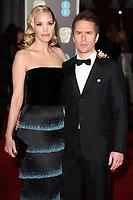 Sam Rockwell & Leslie Bibb arriving for the BAFTA Film Awards 2018 at the Royal Albert Hall, London, UK. <br /> 18 February  2018<br /> Picture: Steve Vas/Featureflash/SilverHub 0208 004 5359 sales@silverhubmedia.com