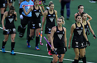 Dejected Blacksticks during the World Hockey League match between New Zealand and Korea. North Harbour Hockey Stadium, Auckland, New Zealand. Saturday 18 November 2017. Photo:Simon Watts / www.bwmedia.co.nz