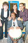 MULTICULTURAL: Enjoying the Multicultural Day at the Tralee Refugee Support Services offices on Thursday last were, back l-r: John Hayes, Gra?inne Landers, Jawhar Amini and Basta Malazy (front).    Copyright Kerry's Eye 2008