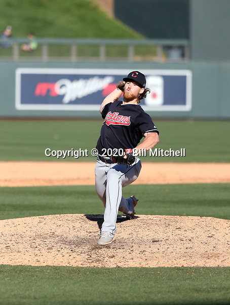 Jonathan Teaney - Cleveland Indians 2020 spring training (Bill Mitchell)