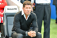 Diego Simeone manager of Atletico Madrid during the pre season friendly match between Brighton and Hove Albion and Atletico Madrid at the American Express Community Stadium, Brighton and Hove, England on 6 August 2017. Photo by Edward Thomas / PRiME Media Images.